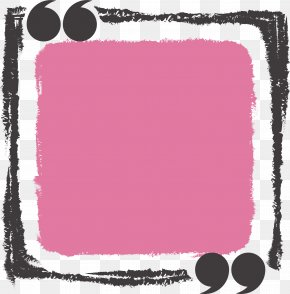 Hand Drawn Pink Rectangle Title Box - Text Box Rectangle Icon PNG