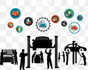 Vector Car Repair - Car Motor Vehicle Service Automobile Repair Shop Maintenance, Repair And Operations PNG