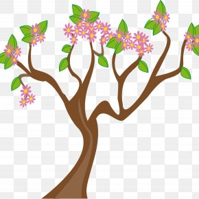 Leaves And Ladybugs - Spring Blossom Clip Art PNG