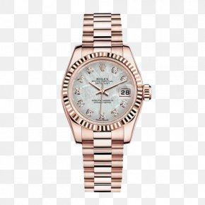 Datejust Ladies Watch Diamond Scale Meteorite Plate - Rolex Datejust Rolex Daytona Rolex Submariner Watch PNG