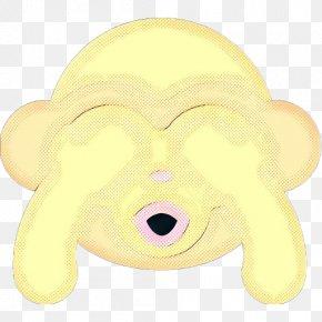 Smile Snout - Yellow Cartoon Nose Snout Clip Art PNG