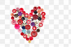 Jewelry Making Button - Heart Fashion Accessory Material Property Bead Heart PNG