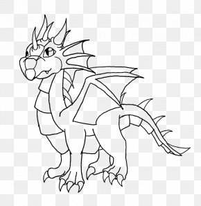 Dragon Line Art - Line Art Drawing Cartoon /m/02csf PNG