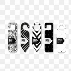 Fashion Black And White Door Listing - Door Hanger Template Creativity PNG