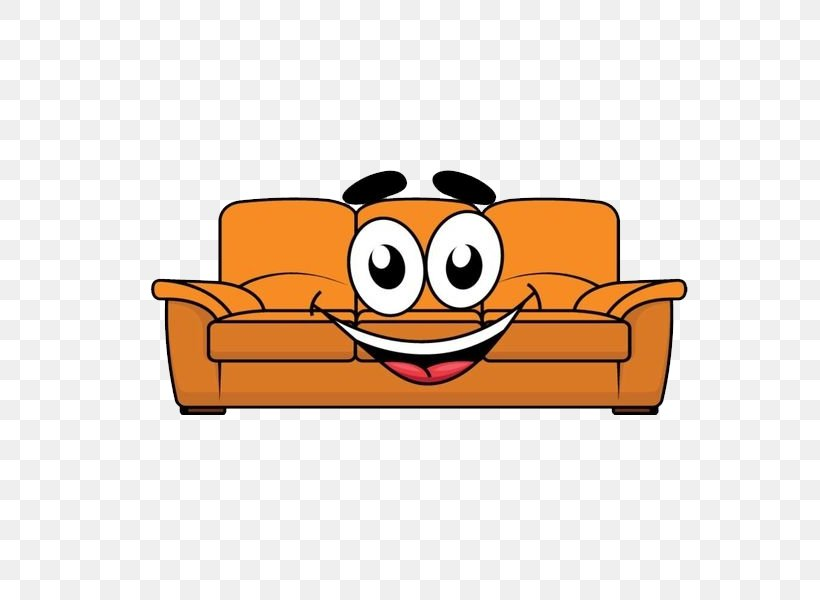 Furniture Cartoon Couch Illustration Png 600x600px