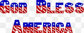 America Cliparts - United States God Bless You Blessing Clip Art PNG
