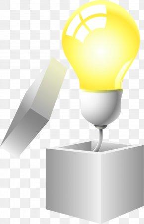 Vector Painted Box Bulb - Box Euclidean Vector PNG