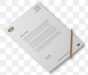 Bifold Mockup - Paper Product Design Brand Font PNG