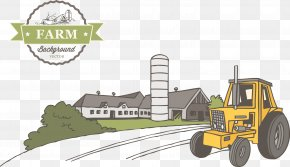 Green Farm Vector - Silo Farm Agriculture PNG