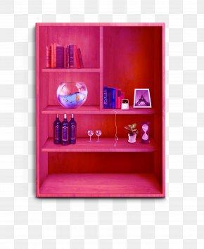 Red Cupboard Interior Elements - Interior Design Services Bookcase Shelf Study PNG