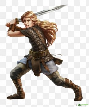 Woman Warrior - Pathfinder Roleplaying Game Dungeons & Dragons Warrior Female D20 System PNG