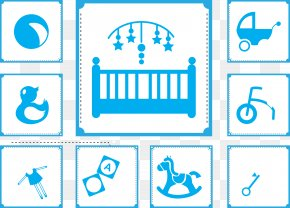 Baby Toy Icon Blue Vector - Toy Infant Silhouette Icon PNG