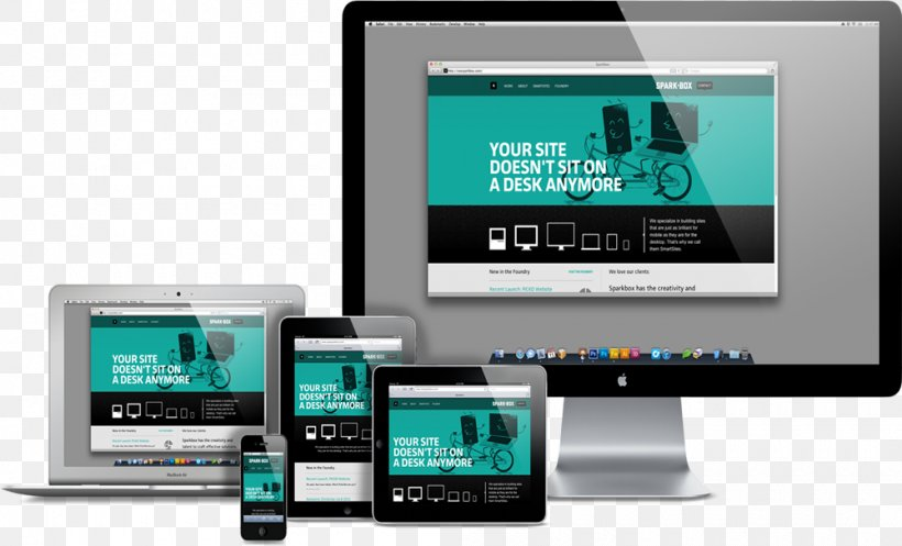 Web Development Responsive Web Design Digital Marketing Website, PNG, 1000x607px, Responsive Web Design, Brand, Communication, Display Advertising, Display Device Download Free