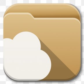 Apps Folder Cloud - Material Rectangle Font PNG