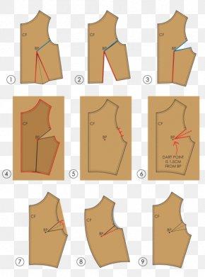 Paper-cut Pattern - Dart Sewing Pattern Grading Clothing Pattern PNG