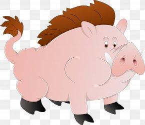 Cartoon Wild Boar - Domestic Pig Euclidean Vector Illustration PNG