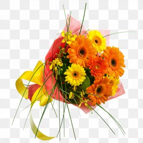 Footpath Among Flowers - Transvaal Daisy Flower Bouquet Cut Flowers Yellow Chrysanthemum PNG