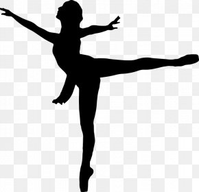 Silhouette - Ballet Dancer Silhouette Clip Art PNG
