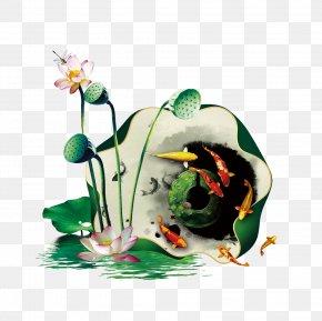 Summer Lotus Lotus FIG. - Chinese New Year Greeting Card PNG