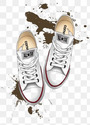 White Skateboard Shoes - Converse Drawing Shoe Chuck Taylor All-Stars Illustration PNG