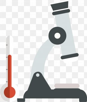 Microscope And Thermometer - Laboratory Test Tube PNG