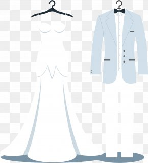 Wedding Dress Vector - Tuxedo Wedding Dress Suit PNG