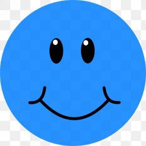 Blue Sad Smileys - Smiley Emoticon Face Clip Art PNG