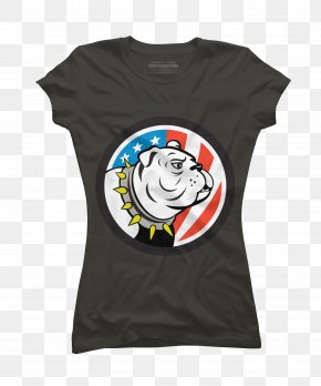 T-shirt - T-shirt United States Logo Bulldog Sleeve PNG
