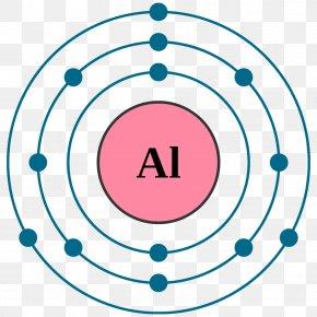 Aluminum Electron Configuration Chemical Eleme - Atom Bohr Model Electron Configuration Chlorine PNG