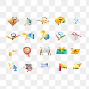 Vector Magnifying Glass And School Supplies - Magnifying Glass Icon PNG