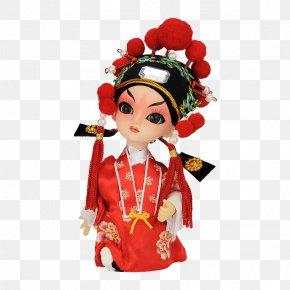 Q Version Of Peking Opera Groom - Peking Opera Doll Q-version Cartoon PNG