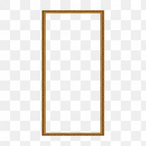 Yellow Frame - Picture Frame Text Pattern PNG