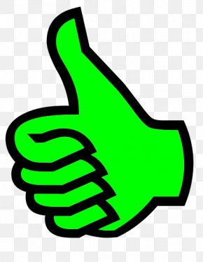 Green Thumb - Thumb Signal Symbol Clip Art PNG