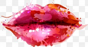 Vector Watercolor Painted Lips - Distance EP Go The Distance Spotify Lyrics PNG