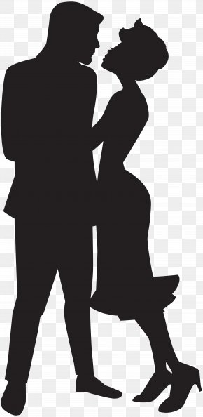 Couple In Love Silhouette Clip Art - Silhouette Clip Art PNG