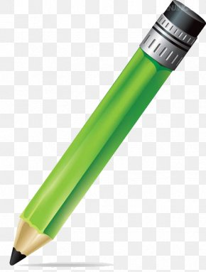 Green Pencil Illustration - Pencil Drawing Photography Illustration PNG
