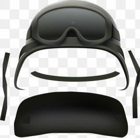 Grey Helmet - Goggles Combat Helmet PNG
