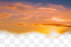 Yellow Sky - Sky Cloud Sunset Dusk PNG