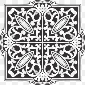 Design - Black And White Ornament Pattern PNG