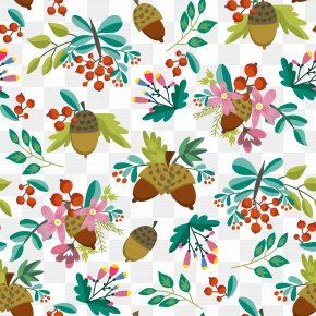 Acorn Decorative Background Vector Illustration - Euclidean Vector Acorn Illustration PNG