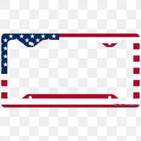 License Plate - Flag Of The United States Picture Frames Vehicle License Plates PNG
