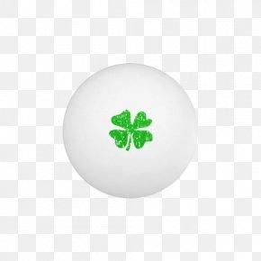 Clover Standard Table Tennis - Shamrock Saint Patricks Day Leaf Circle Pattern PNG