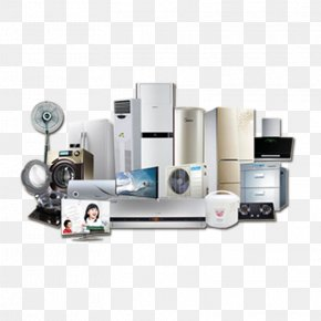 A Large Collection Of Home Appliances - Home Appliance Air Conditioning Refrigerator Air Conditioner PNG