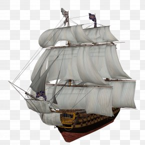 Sailing Ship Image - Middle Ages Golden Age Of Piracy Puzz 3D Ship PNG