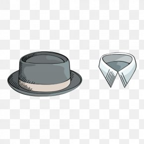 Gentleman's Hat And Collar - Hat Designer Collar Sombrero PNG