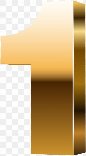 Gold Number One - 3D Computer Graphics Clip Art PNG