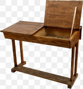 Vintage Wood,Clamshell,desk - Writing Desk Office Chair PNG
