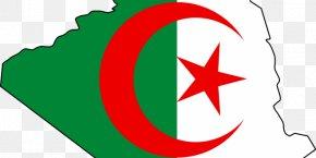 Flag - Flag Of Algeria Map National Flag PNG