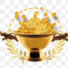 Gold Jar - Gold PNG
