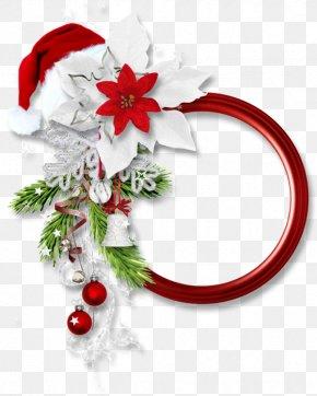 Santa Claus - Santa Claus Christmas Picture Frames Candy Cane Clip Art PNG